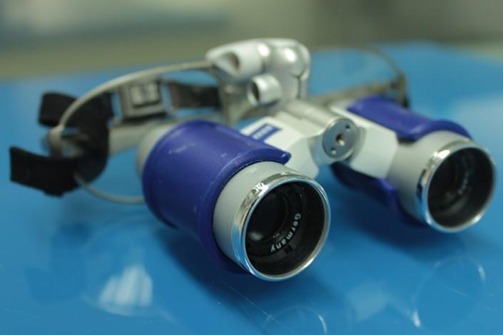 occhiali microscopio